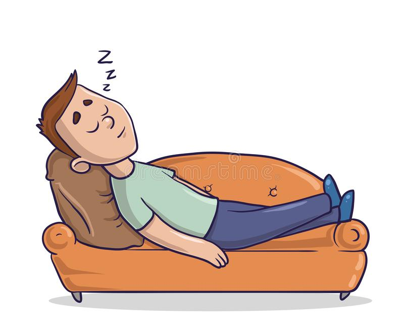 Man Lying On Couch Clipart.