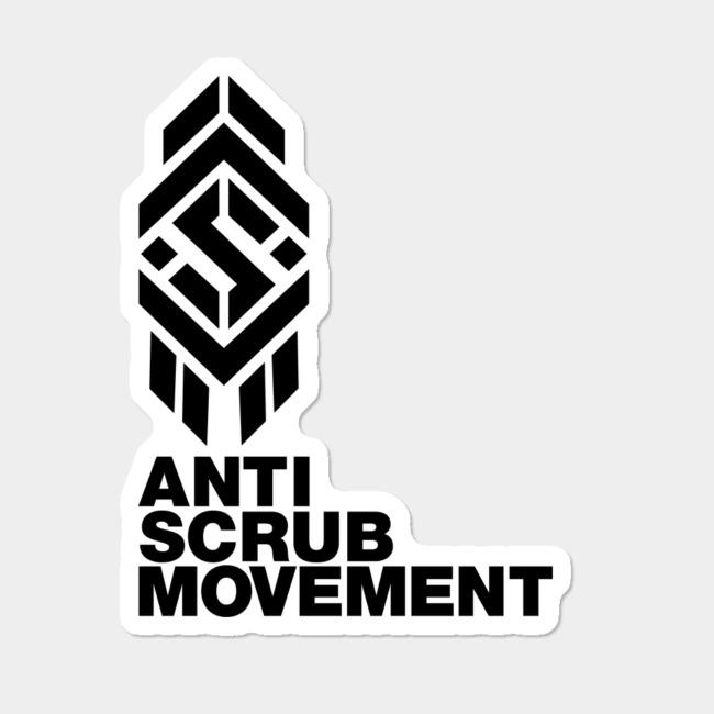 ASM Logo 1 Black Sticker By AntiScrubMovementMerch Design By Humans.