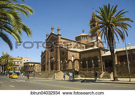 """Stock Photo of """"St. Mary's Catholic Cathedral on Harnet Avenue."""