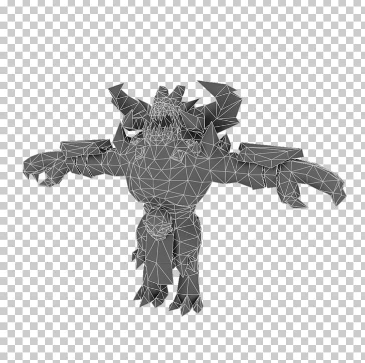 Low Poly Demon Asmodeus 3D Computer Graphics Character PNG.