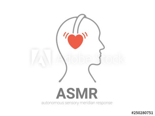 Autonomous sensory meridian response, ASMR logo or icon.