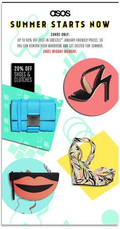 up to 50% off sale #email gif from ASOS. Simple animation.