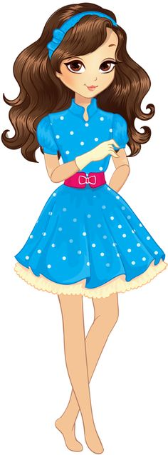 Teenage girl standing clipart.