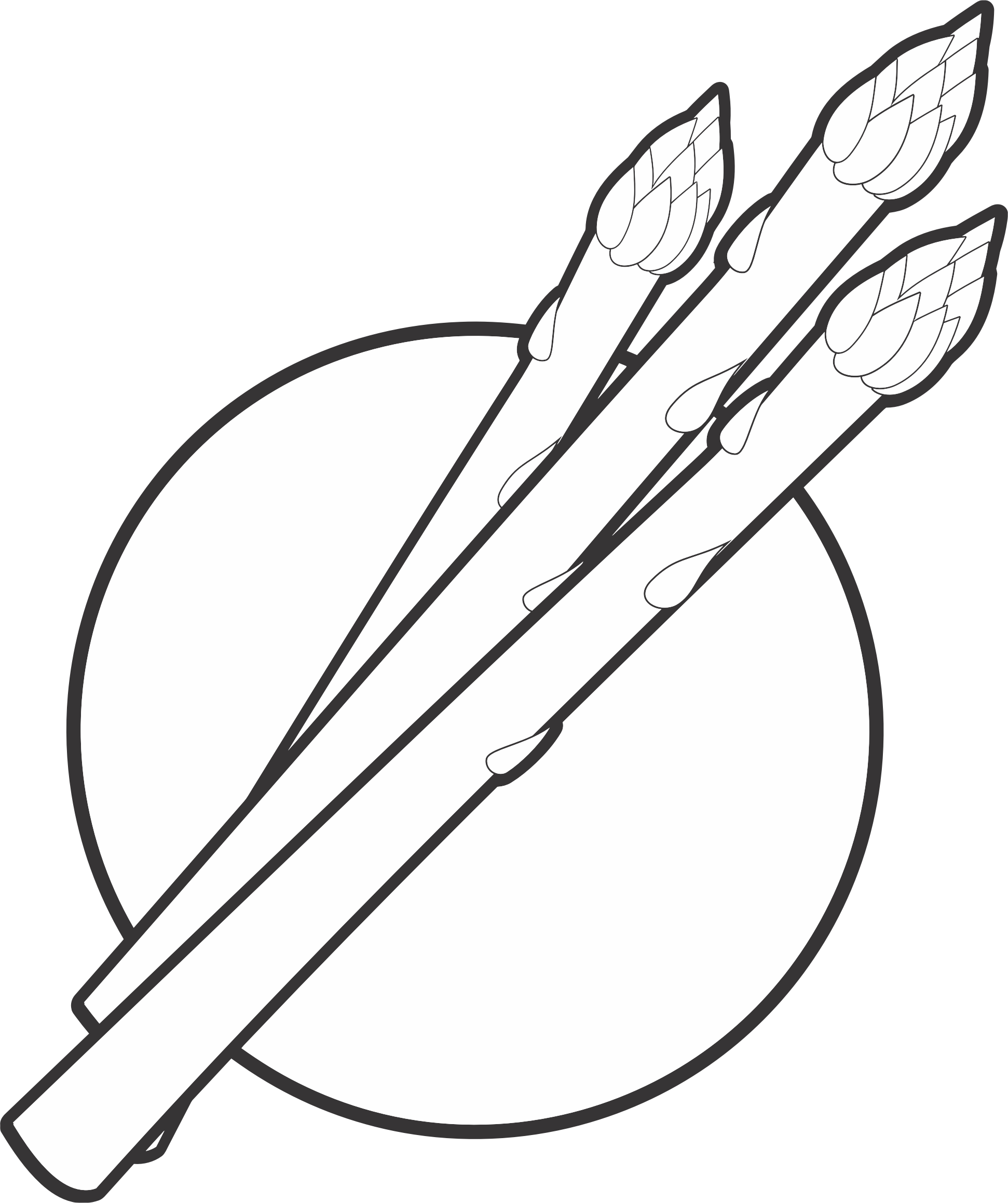 Free Asparagus Clipart Black And White, Download Free Clip.