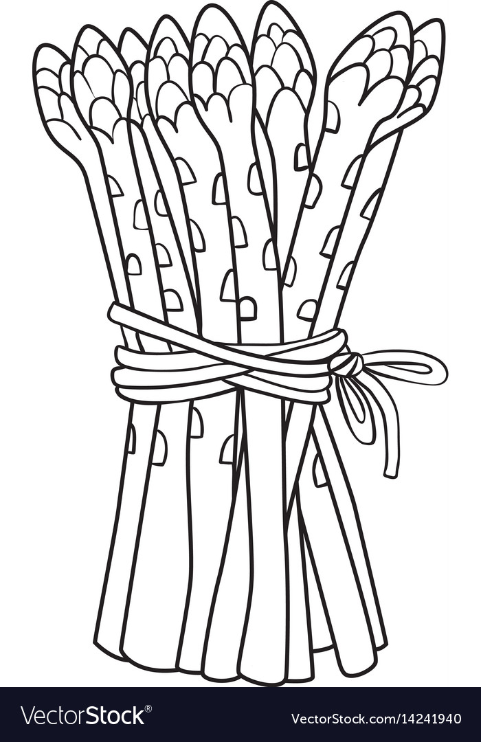 Cartoon image of asparagus.