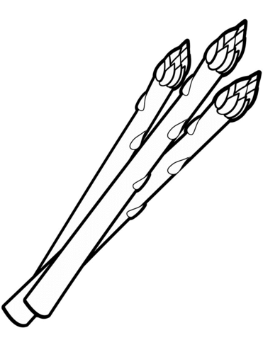 Asparagus coloring page.