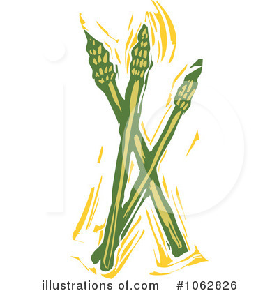 Asparagus field clipart #1