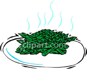 Cooked_Asparagus_On_A_Plate_Royalty_Free_Clipart_Picture_090406.