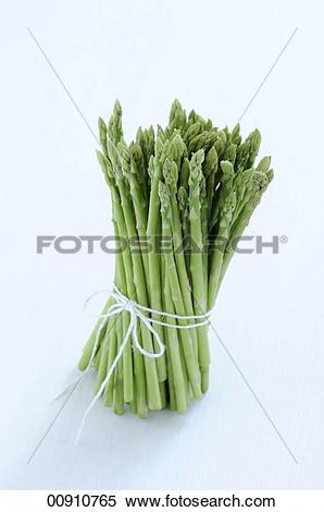 Stock Image of Tips of Bundled Asparagus 00910765.