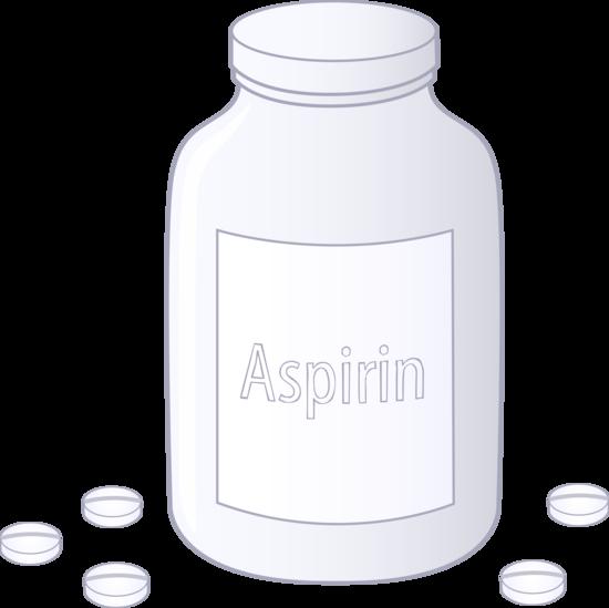 Bottle of Aspirin Tablets.