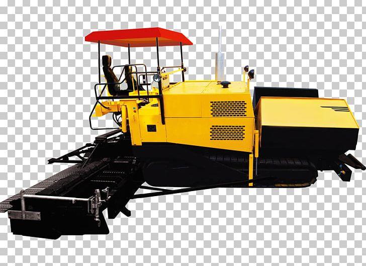 Heavy Machinery Paver Road Asphalt Concrete PNG, Clipart.