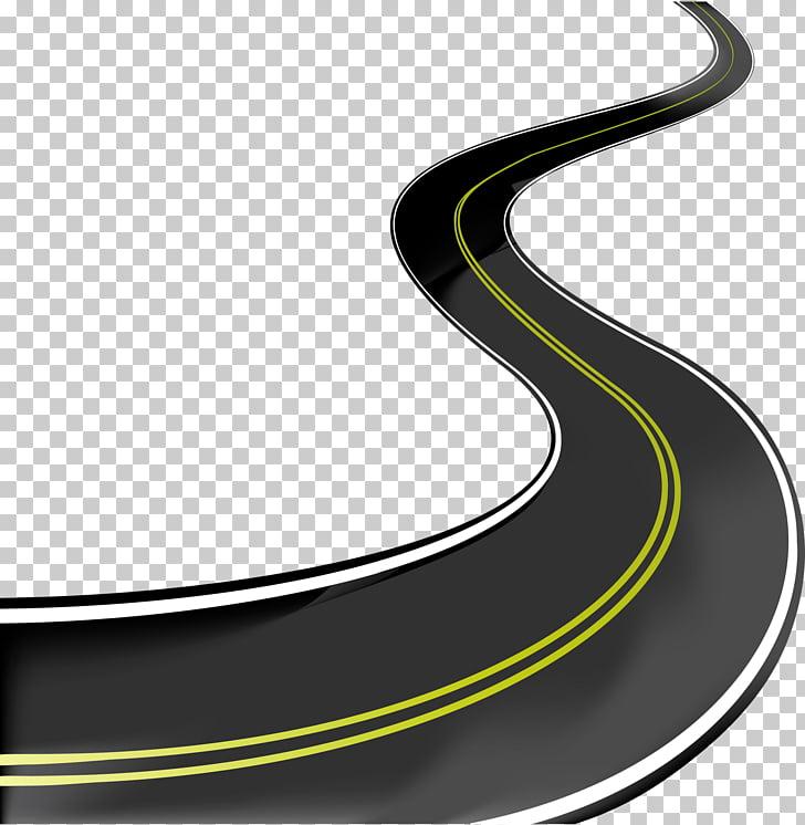 Road Asphalt concrete , road, highway illustration PNG.