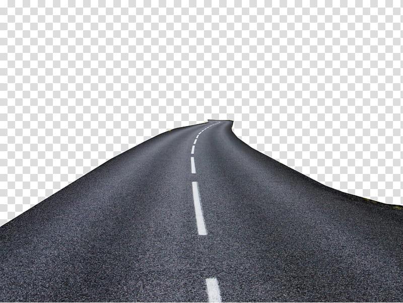 Asphalt road transparent background PNG clipart.