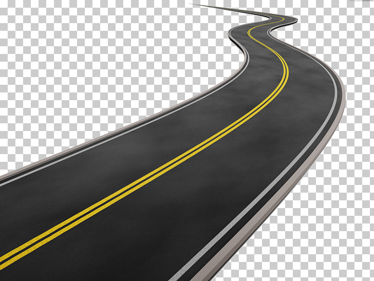 Road curve , Road Transparent Background, black and yellow.