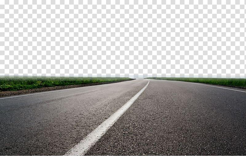 Asphalt road, Highway Lane , Extending Highway transparent.