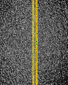 Clip Art of Asphalt Road Surface Without Lines Seamless Background.