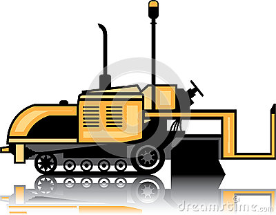 Asphalt Paver Stock Illustrations.