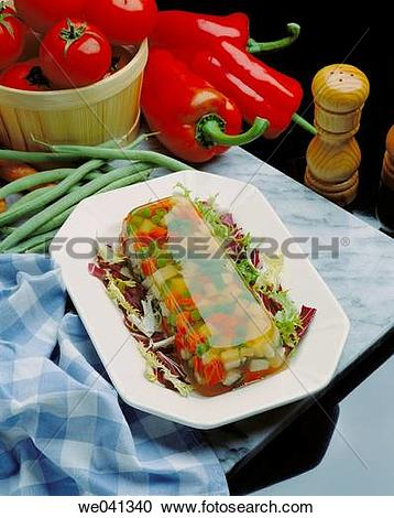 Stock Photography of Vegetable aspic we041340.