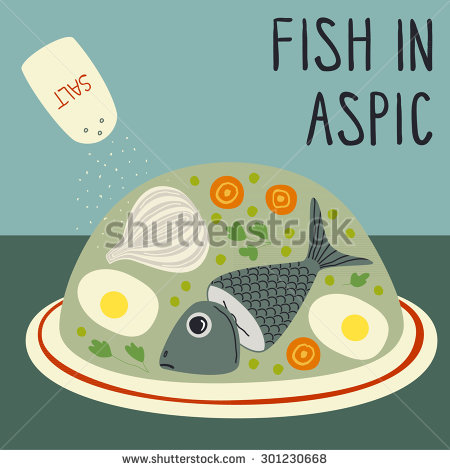 Fish Aspic Stock Photos, Royalty.