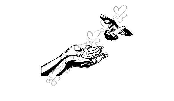 Amazon.com: Yetta Quiller Hope Concept Hand Dove Flying.