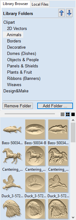 The 3D Clipart Tab.
