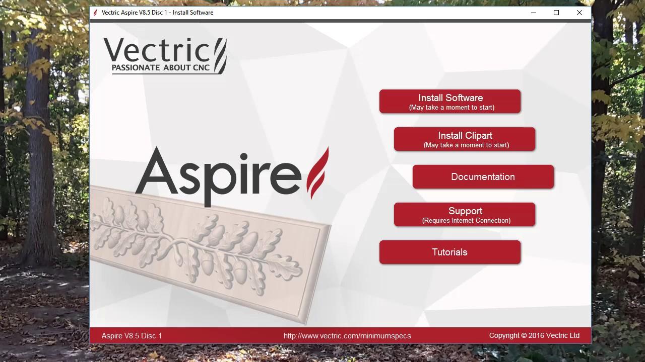 Installing Aspire 8.5 via CNCRoutershop.