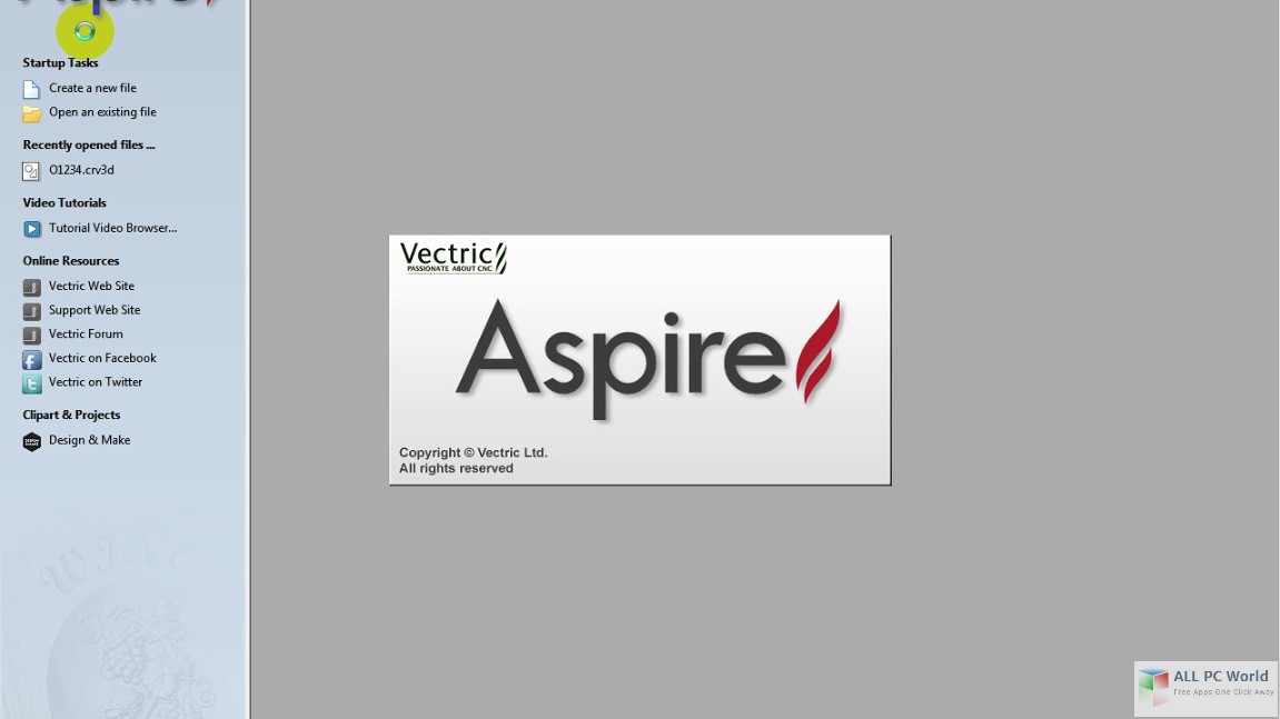 Vectric Aspire 9.0 Free Download.