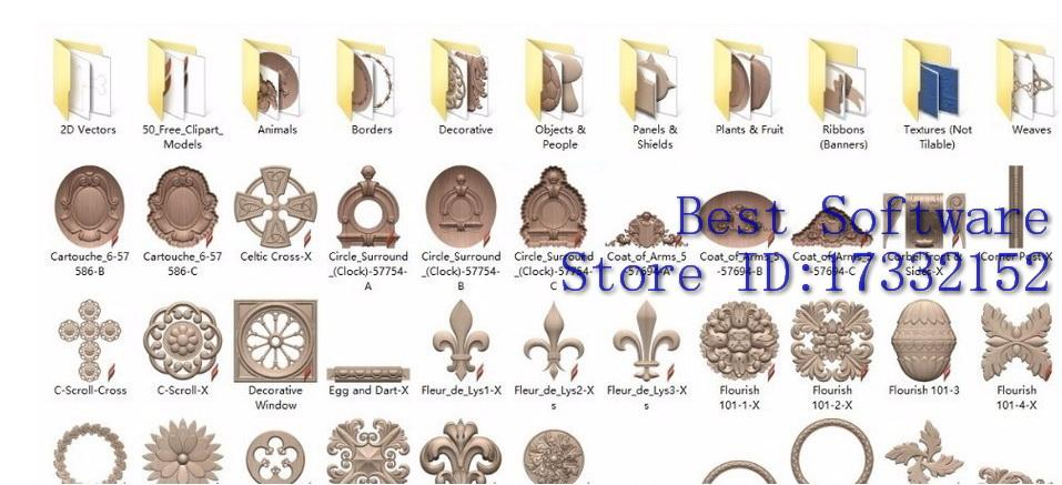 2017 Vectric Aspire 3d Clipart Library Aspire Relief 3d Models Up.