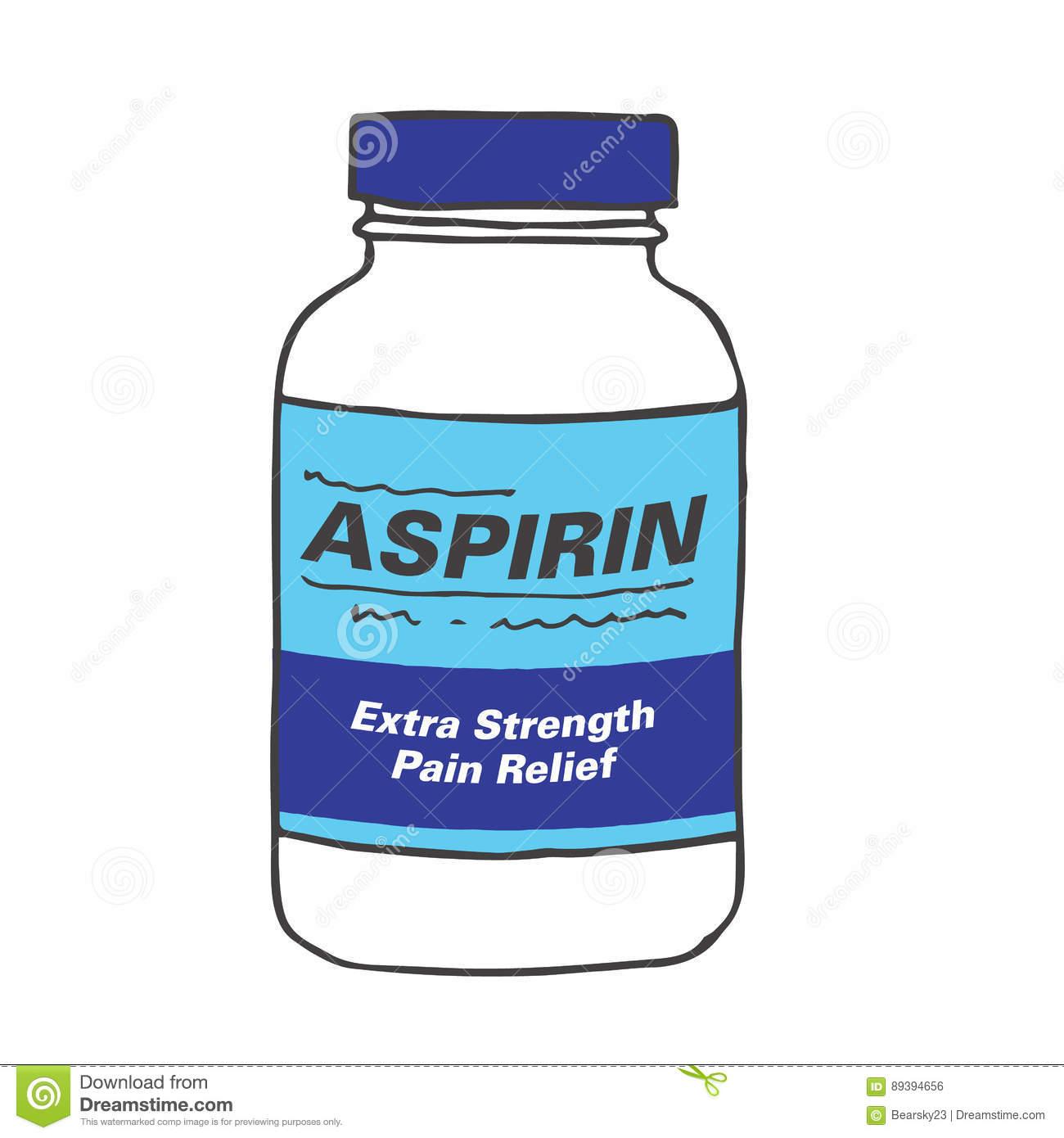 Generic Medicine Bottle Template Stock Vector.