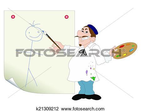 Clipart of the aspiring painter k21309212.