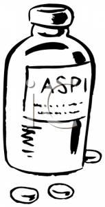 Black and White Aspirin Bottle.