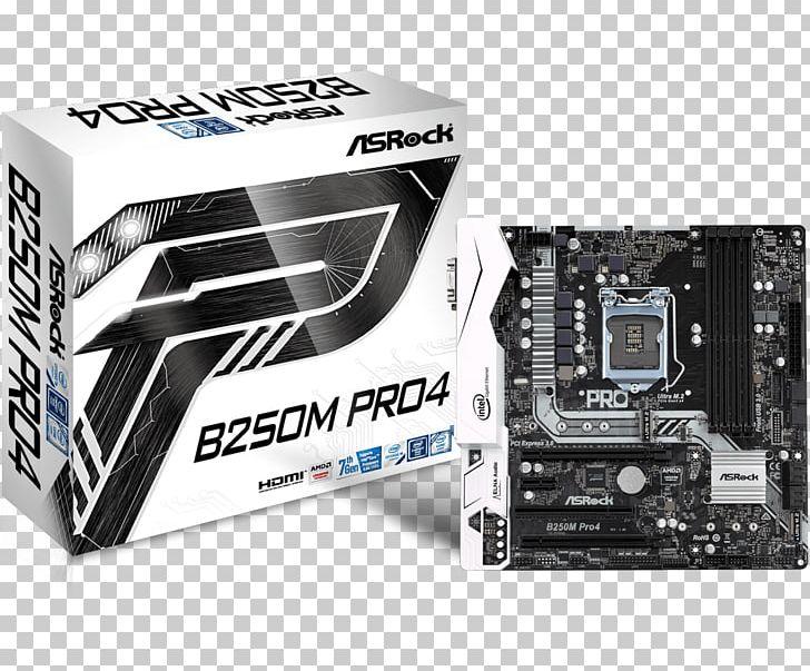 Intel ASRock B250M Pro4 LGA 1151 MicroATX Motherboard PNG.