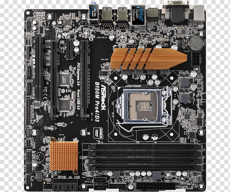 Asrock B150M Pro4S/D3 S1151 Matx Intel B150 Motherboard.