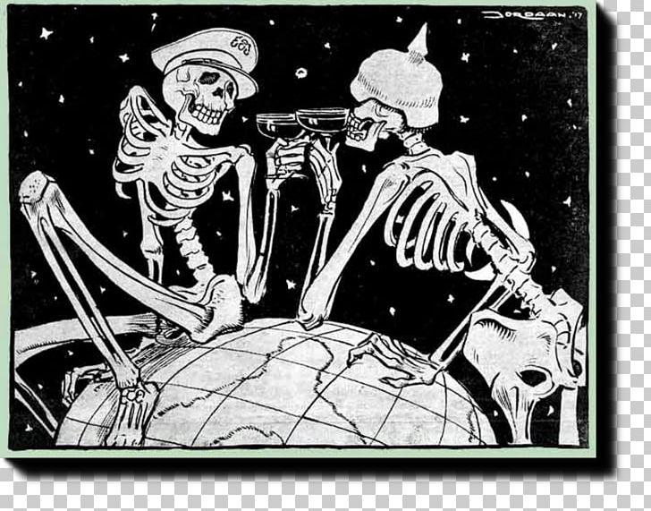 First World War Cartoon Assassination Of Archduke Franz.
