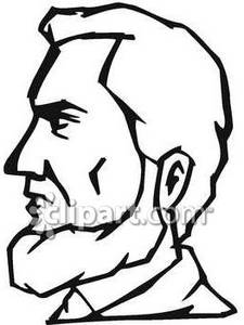 Black and White Face of Abe Lincoln.