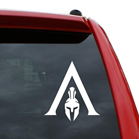 Black Heart Decals & More Assassin\'s Creed Odyssey Logo Vinyl Decal Sticker.