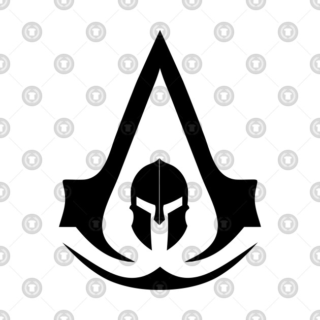 assassins creed odyssey black logo.