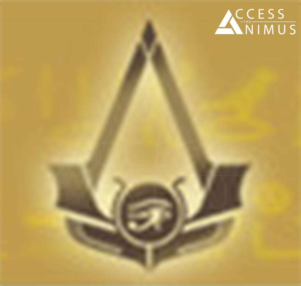 Early version of the Assassin\'s Creed Origins / Empire logo.