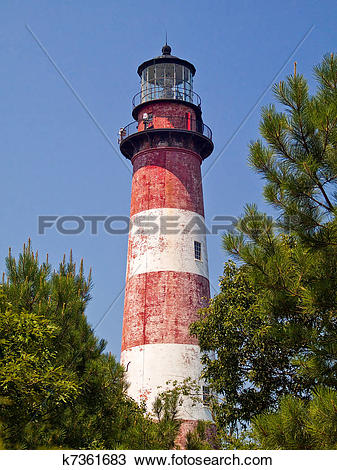 Stock Photo of Assateague Island Lighthouse, VA k7361683.