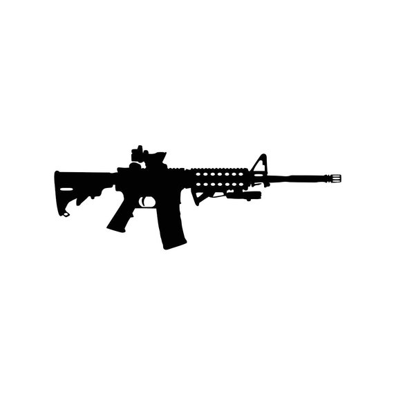 Gun Ammo Assault Rifle Graphics SVG Dxf EPS Png Cdr Ai Pdf Vector.