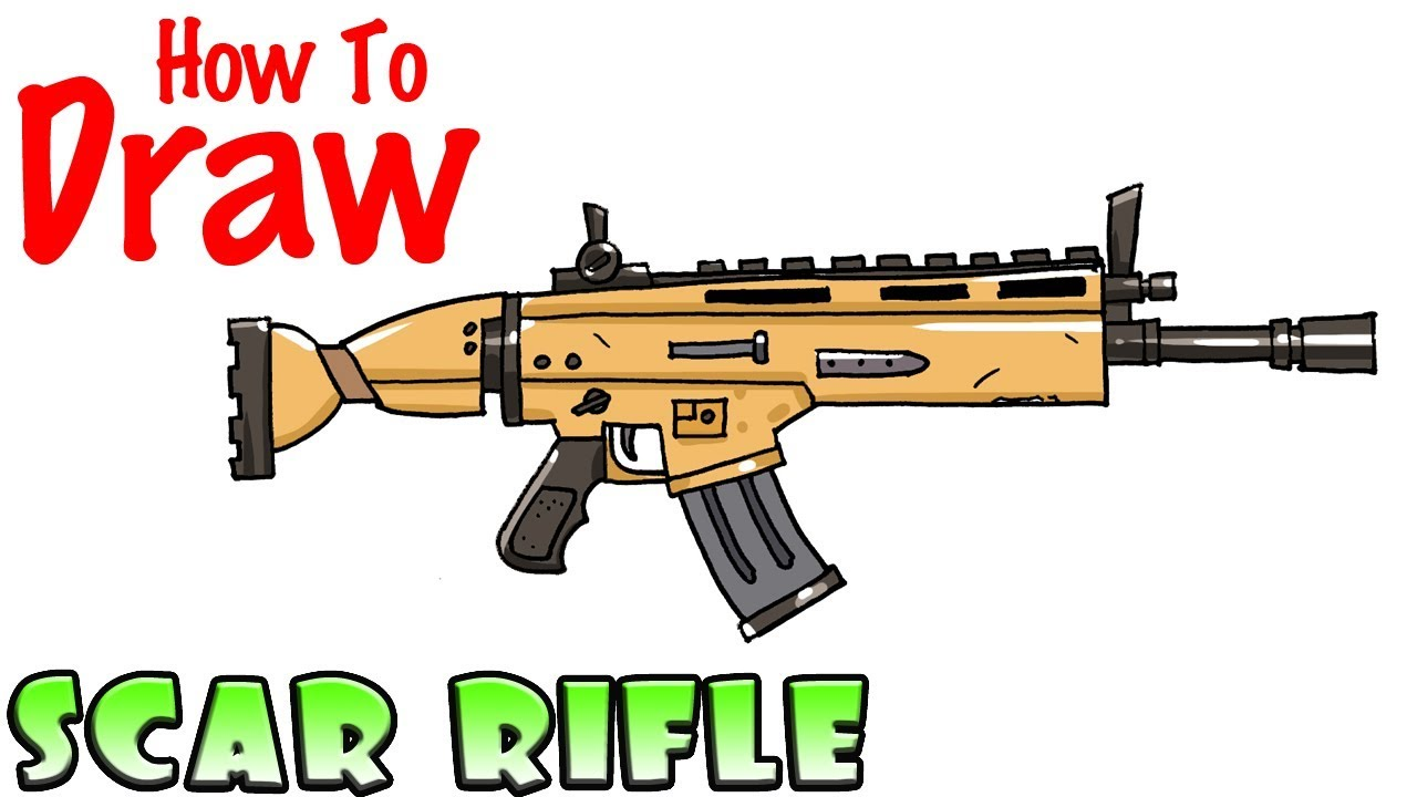How to Draw the SCAR Rifle.