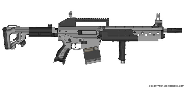 Dragunov based battle rifle.