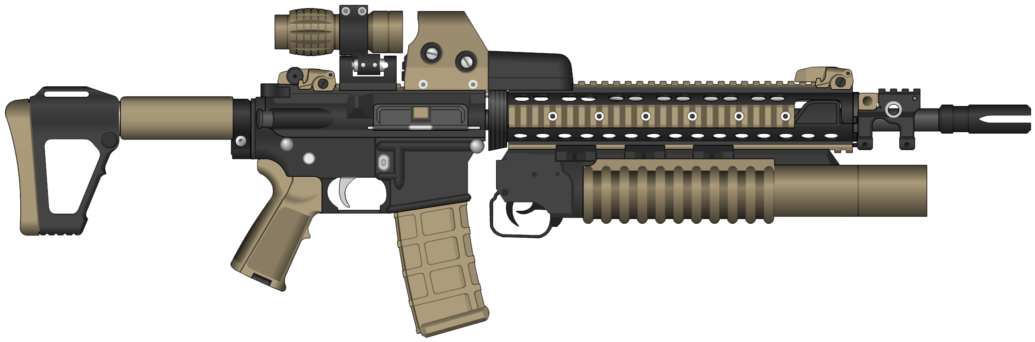 Download Assault Rifle Clipart PNG Image for Free.