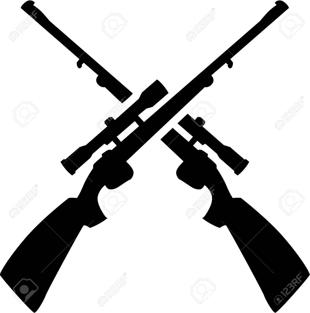 1227 Rifle free clipart.