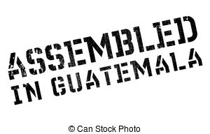 Vector Clip Art of Assembled in Guatemala rubber stamp. Grunge.