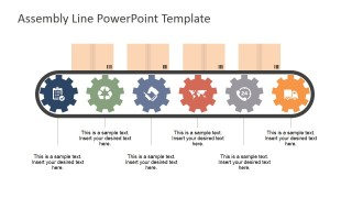 Assembly Line PowerPoint Shapes.
