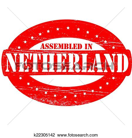 Clipart of Assembled in Netherland k22305142.