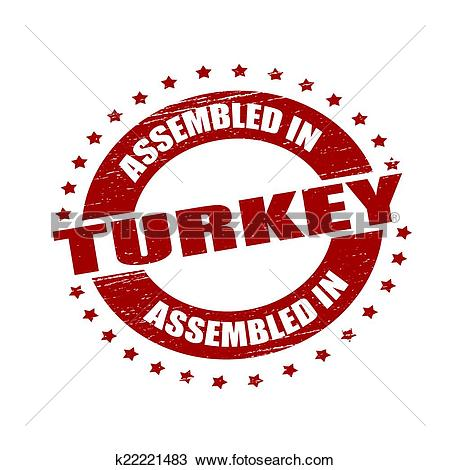 Clipart of Assembled in Turkey k22221483.