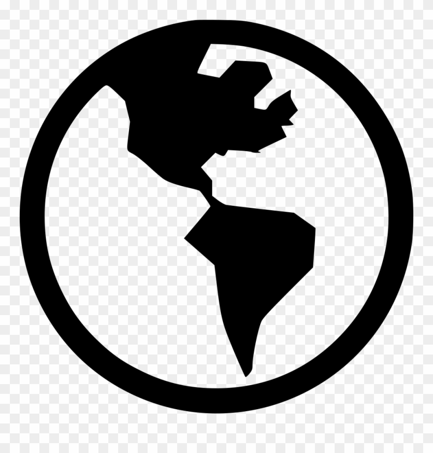 Clipart Globe Silhouette.