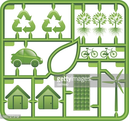 Environmental Assembly Kit Vector Art.